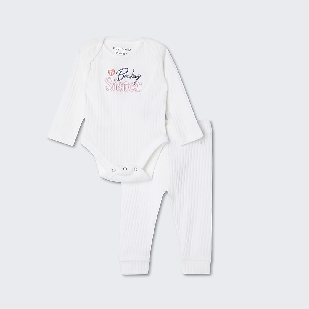 Baby white 'Baby sister' outfit