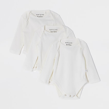 Baby white bodysuits 3 pack and gift bag