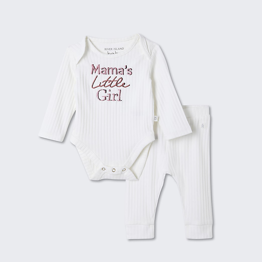 Baby white 'Mamas little girl' outfit
