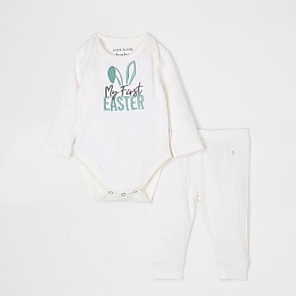 Baby white 'My First Easter' outfit