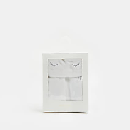 Baby white royalty dressing gown