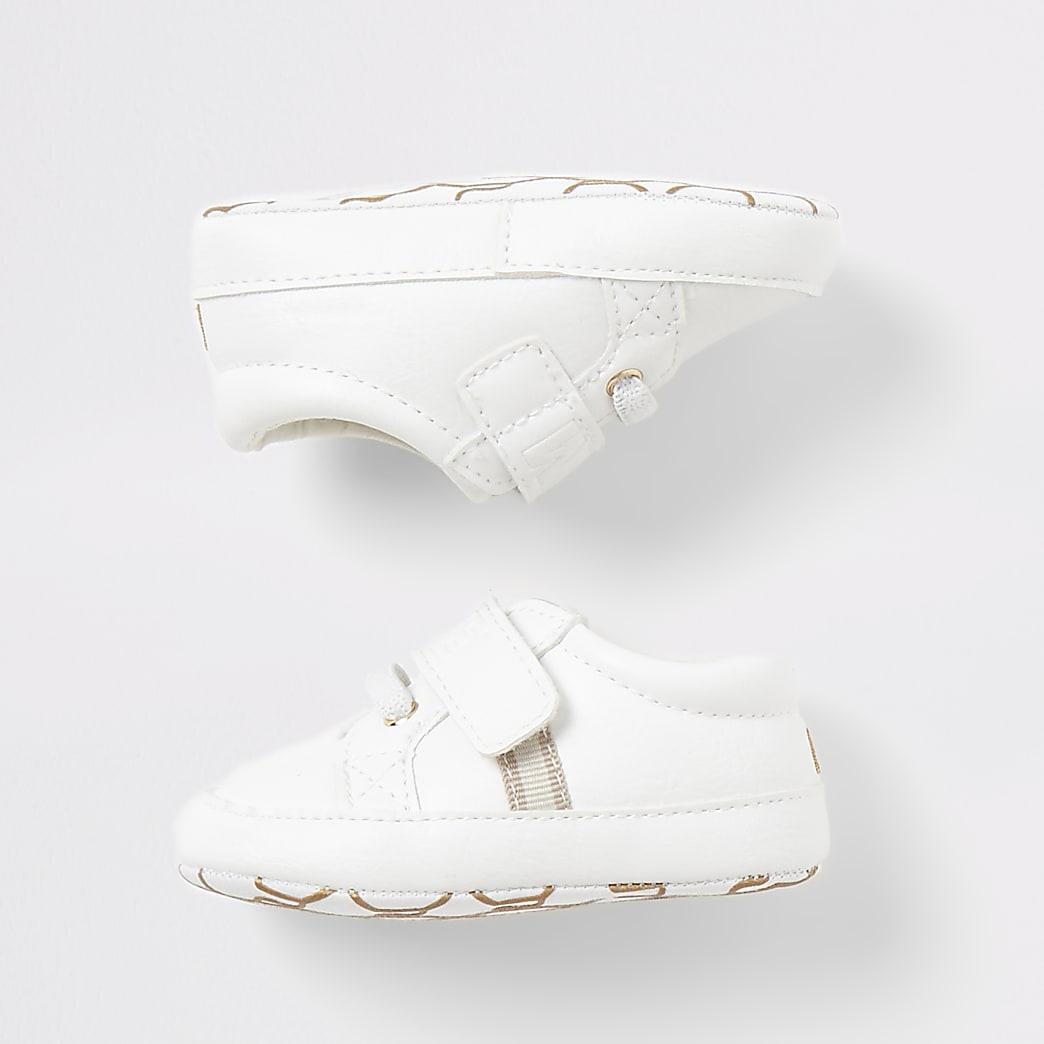 Witte 'Team cute' sneakers voor baby's