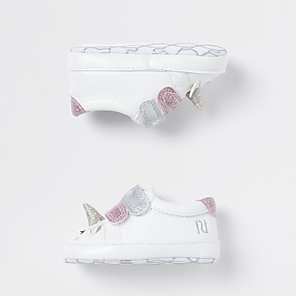 Baby white unicorn trainers