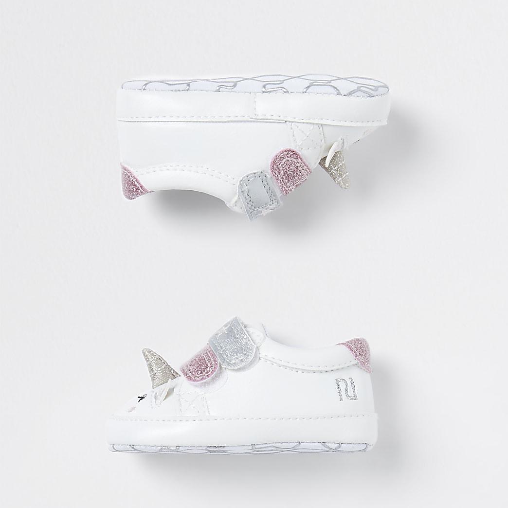 Baby white unicorn trainers