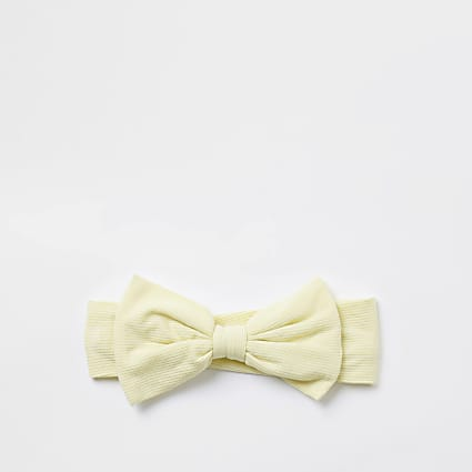 Baby yellow bow headband