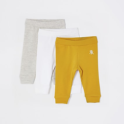 Baby yellow leggings 3 pack