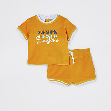 Baby yellow 'Sunshine' t-shirt outfit