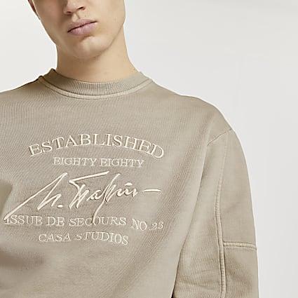 Beige 'Casa Studios' washed sweatshirt