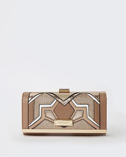 Beige cut out purse