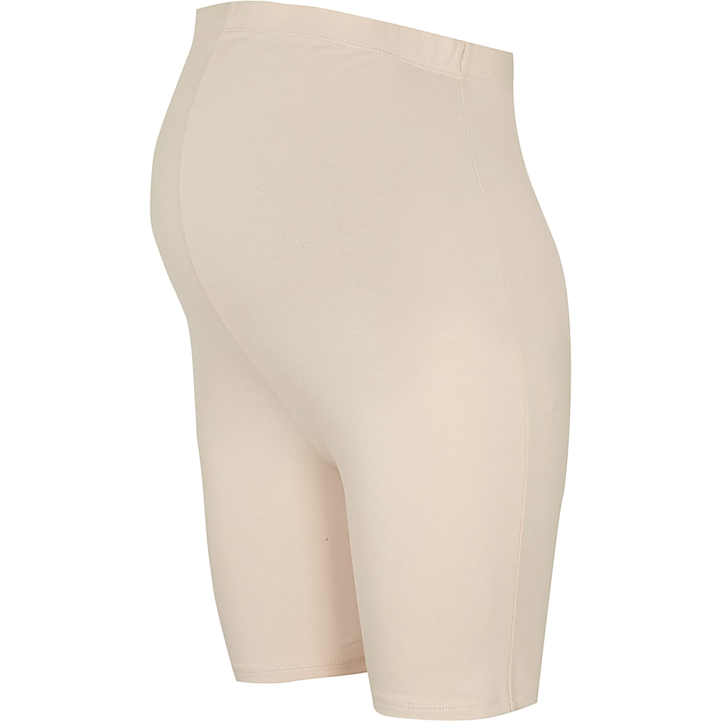 Beige Maternity cycling shorts