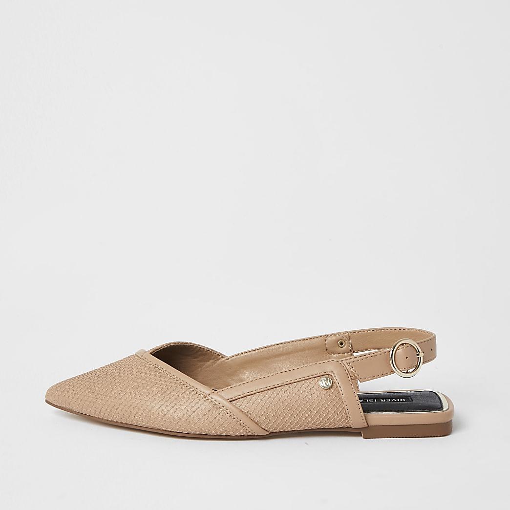 Beige meshed sandals