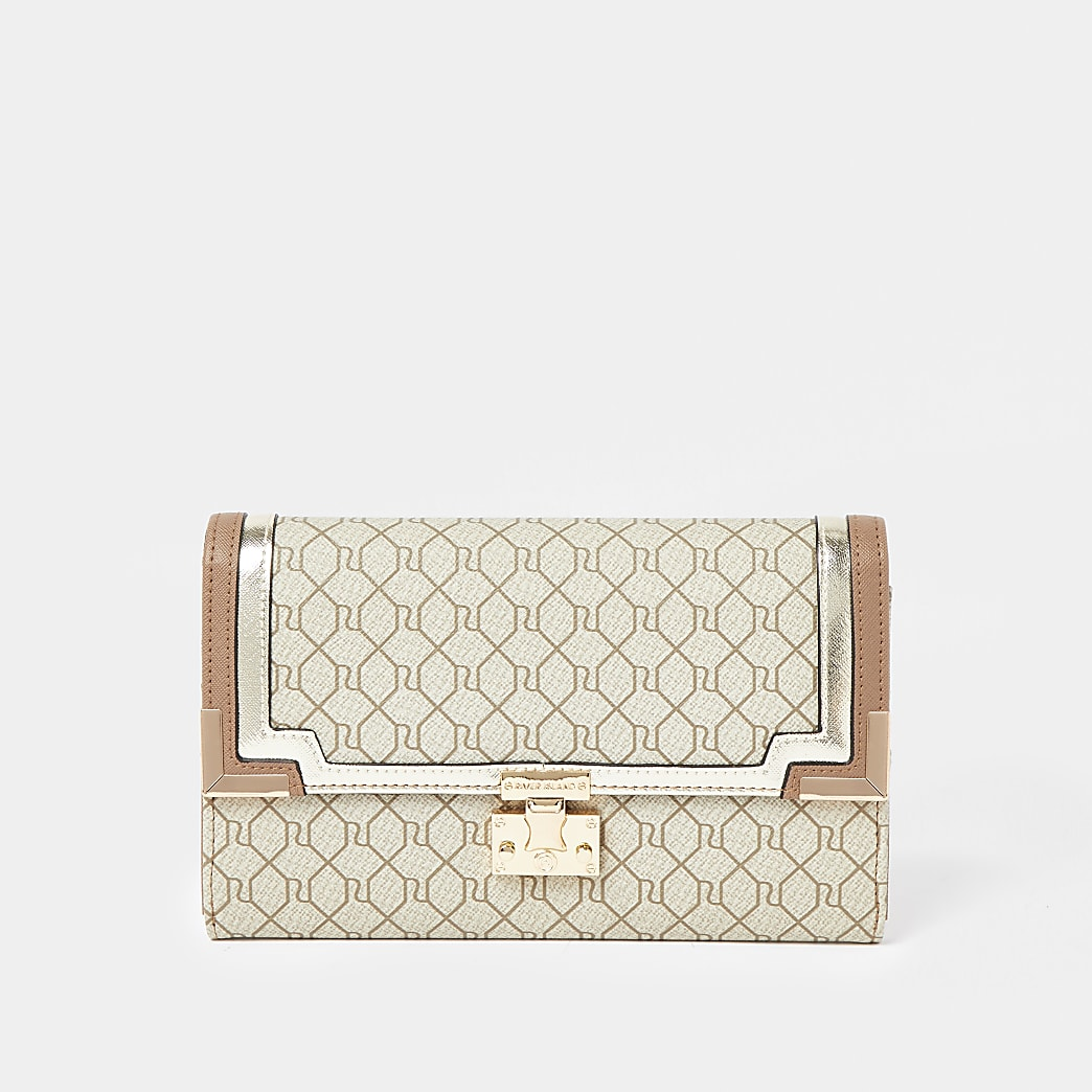 Beige Monogram Travel Wallet