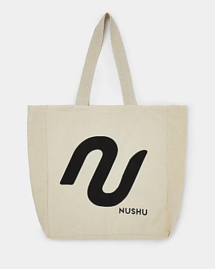 Beige NUSHU bag for life