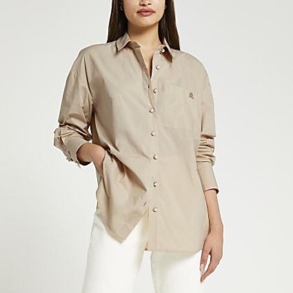 Beige oversized shirt