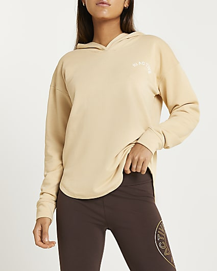 Beige RI Active cut out hoodie
