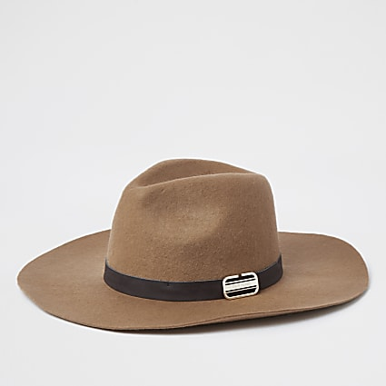 Beige RI branded Fedora hat