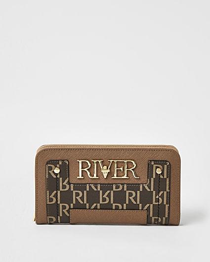 Beige RI branded purse