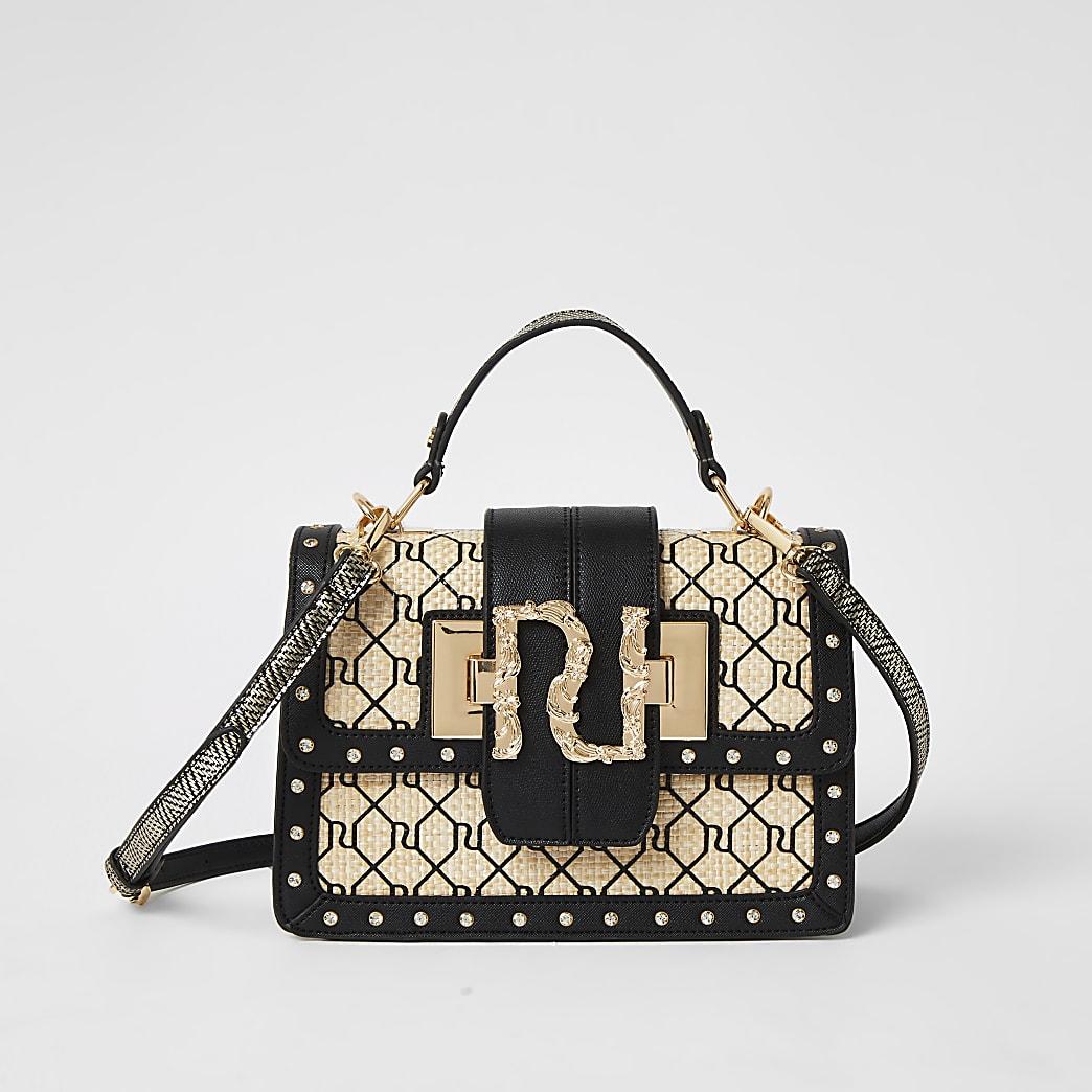 Beige RI cross body satchel Handbag