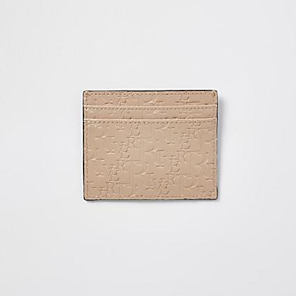 Beige RI embossed cardholder
