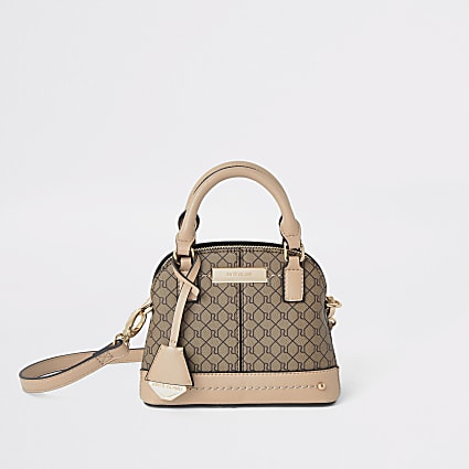 Beige RI monogram mini bag