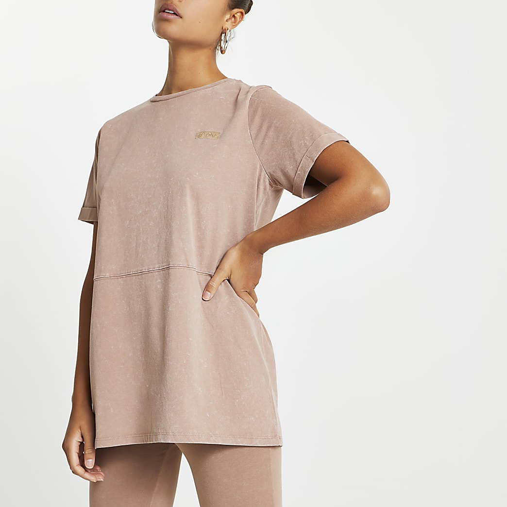 Beige RI ONE oversized t-shirt