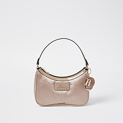 Beige RI scoop shoulder bag