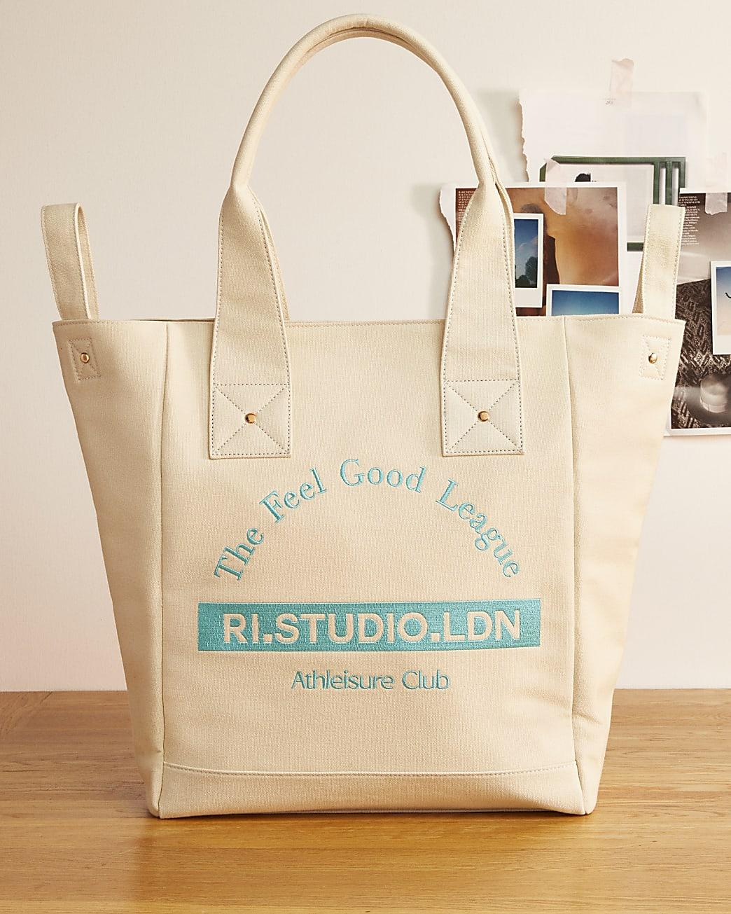 Beige RI Studio canvas shopper bag