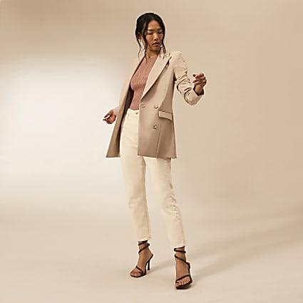 Beige RI Studio fitted blazer