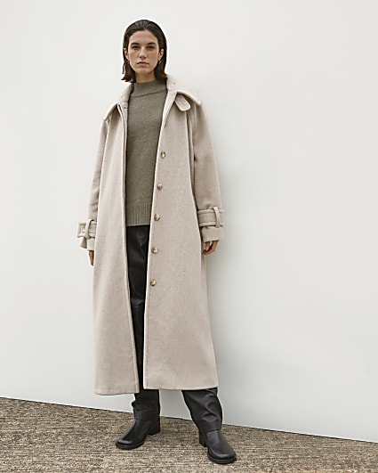 Beige RI Studio Trench Coat