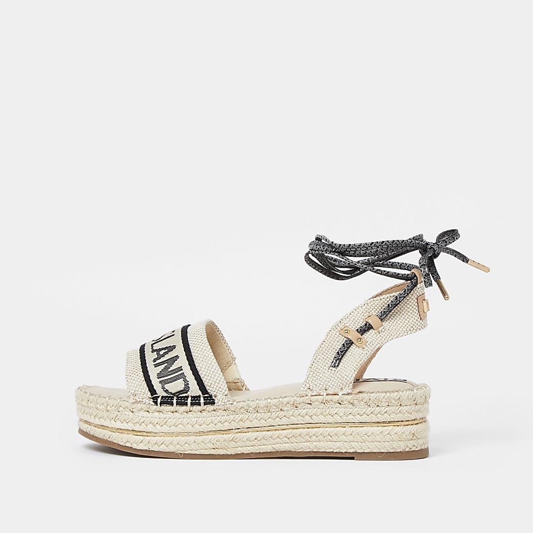 Beige 'River Island' espadrille sandals