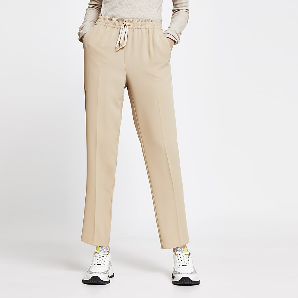 Beige Tailored Jogger