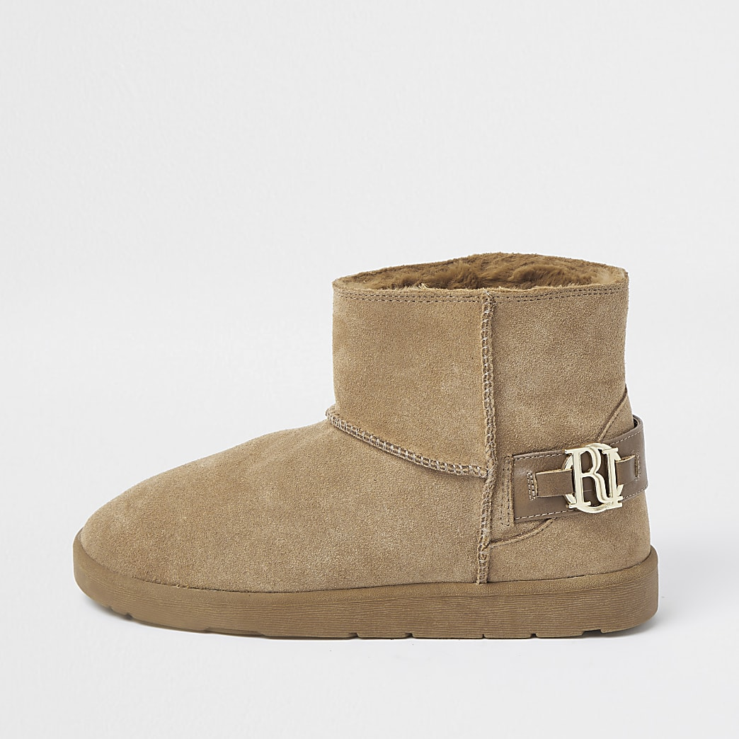 Beuge suede faux fur lined boots