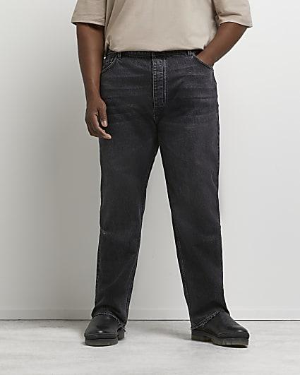 Big & tall black baggy fit jeans