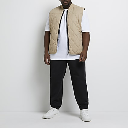 Big & tall black casual chino trousers