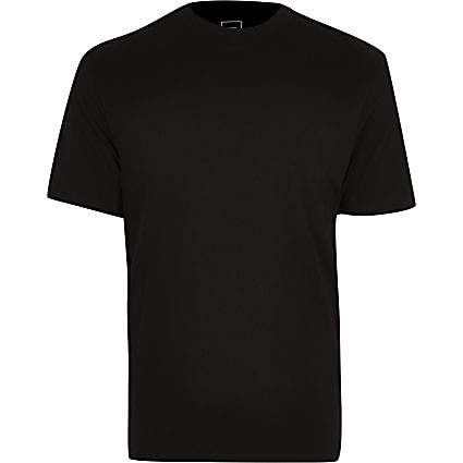 Big & Tall black crew neck t-shirt