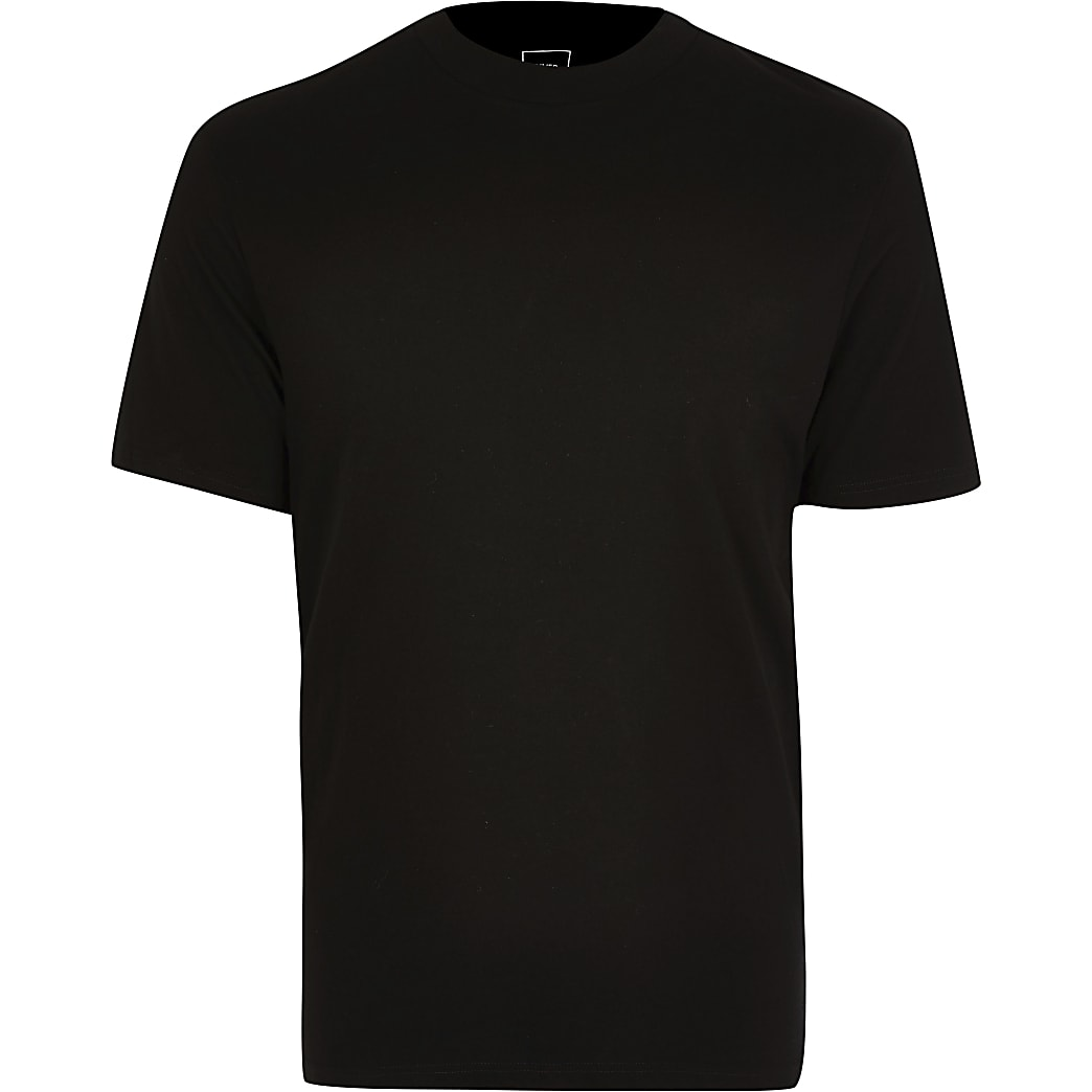 Big & Tall black crew neck t-shirt