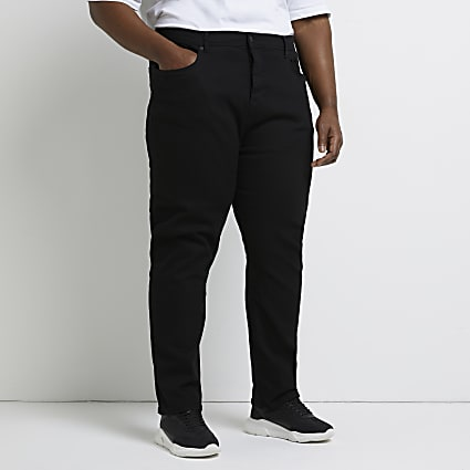 Big & Tall black Dean straight fit jeans