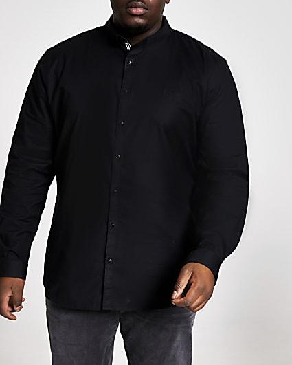 Big & Tall black long sleeve Oxford shirt