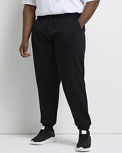 Big & tall black oversized fit joggers