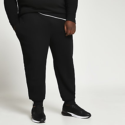 Big & Tall black RI slim fit joggers