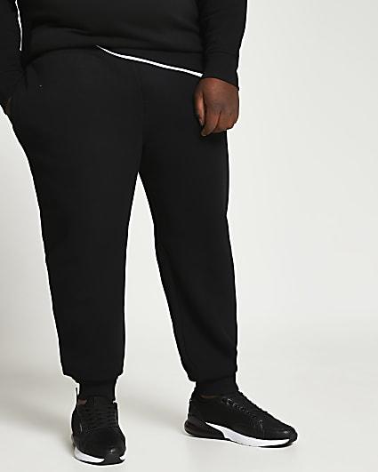 Big & Tall black RI slim fit joggers