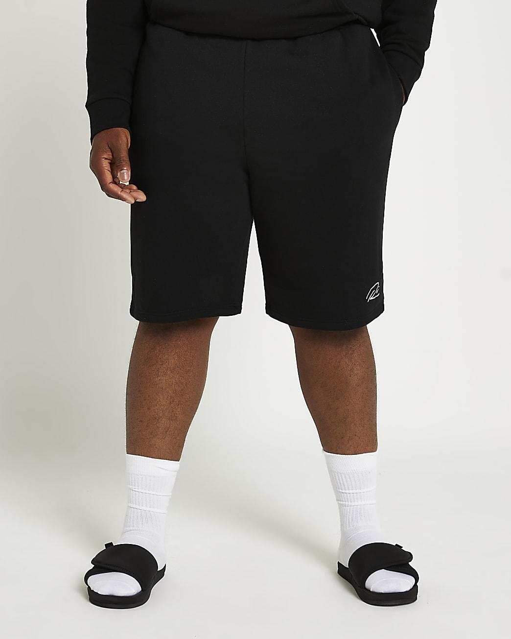 Big & Tall black RI slim fit shorts