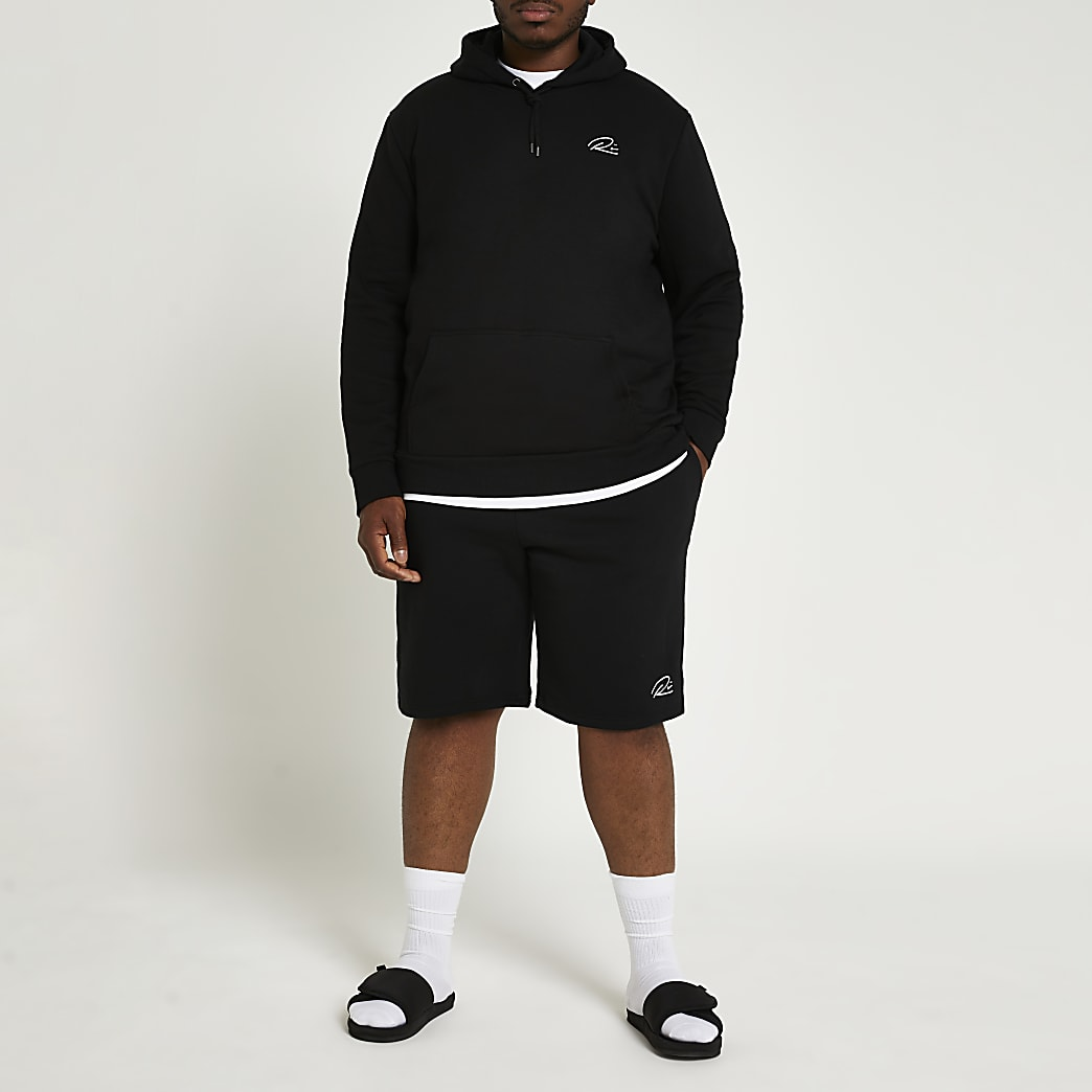 Big & Tall black RI slim fit shorts