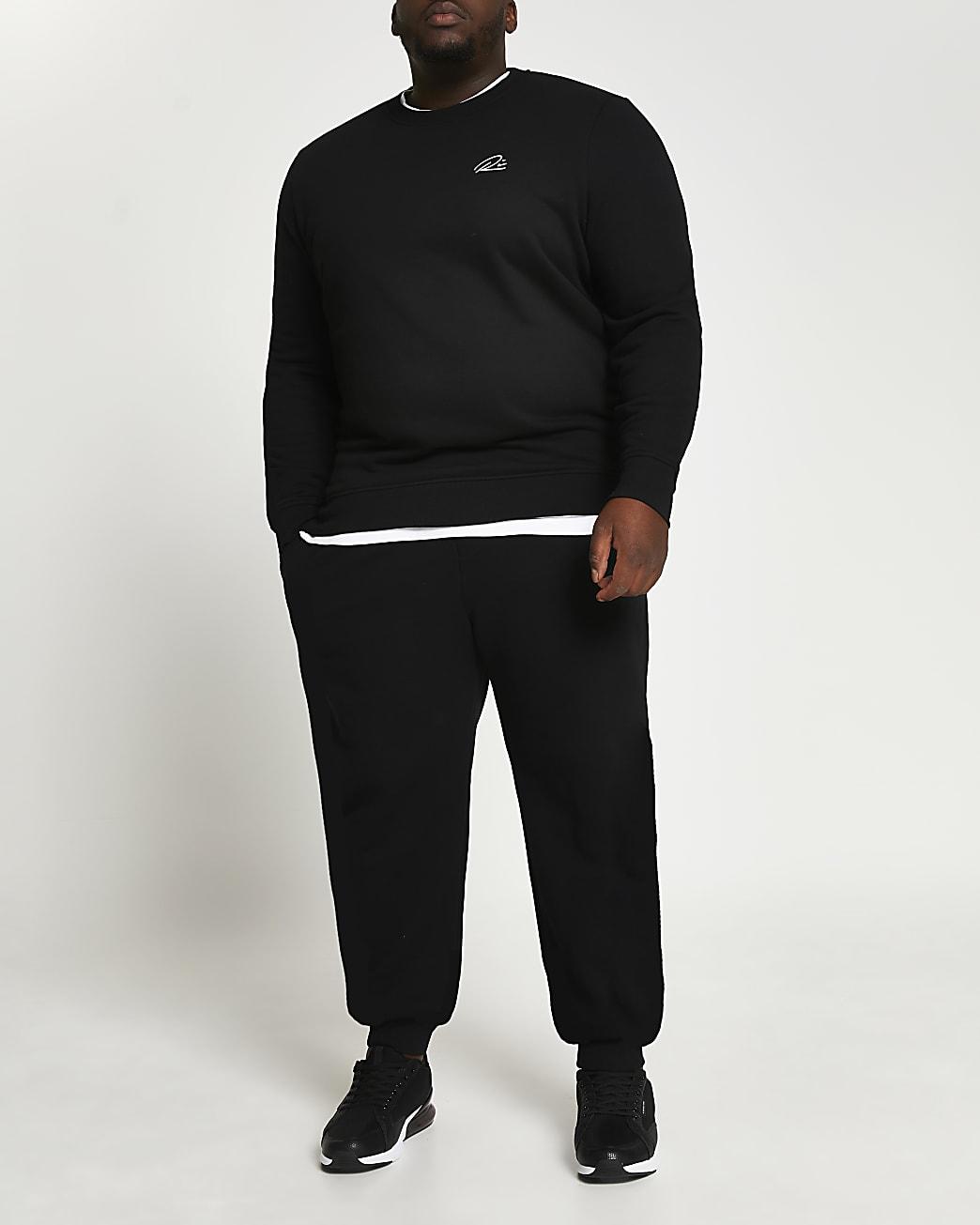 Big & Tall black slim fit sweatshirt