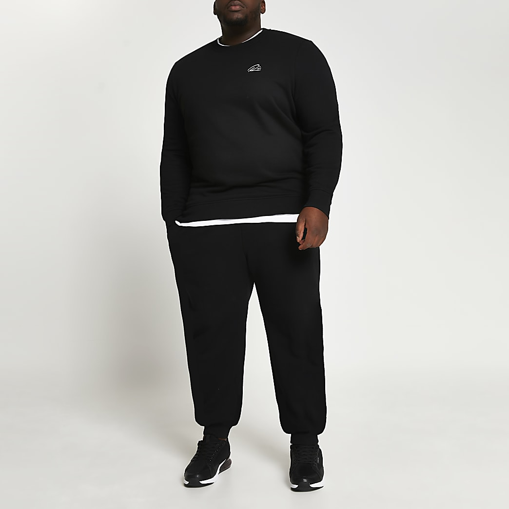 Big & Tall black slim fit sweatshirt