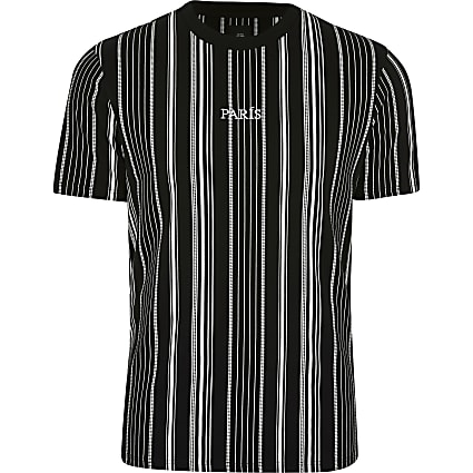 Big & Tall black stripe 'Paris' t-shirt