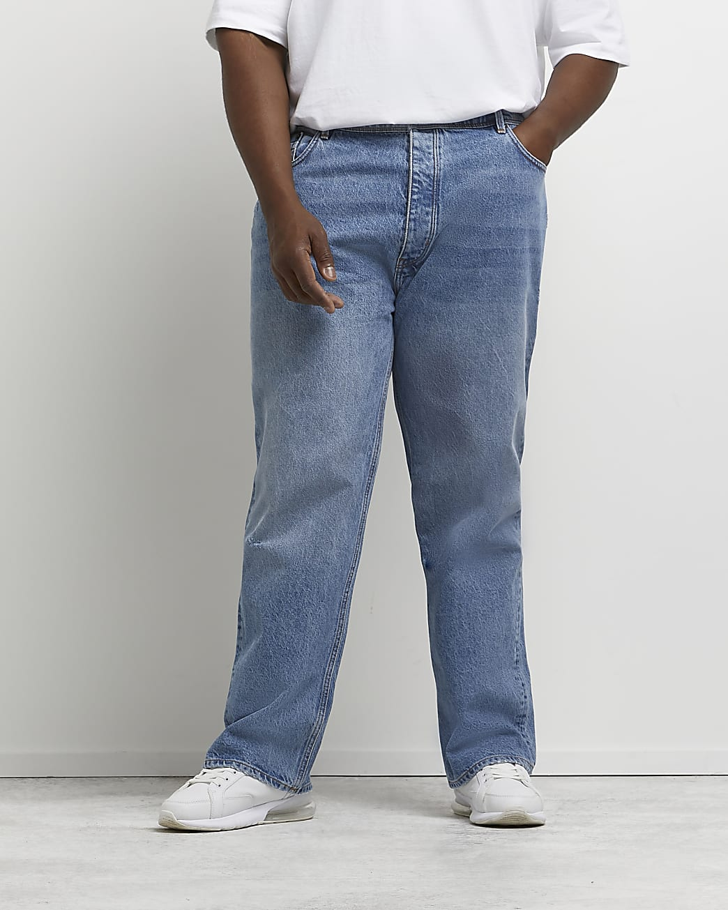 Big & Tall blue baggy fit jeans