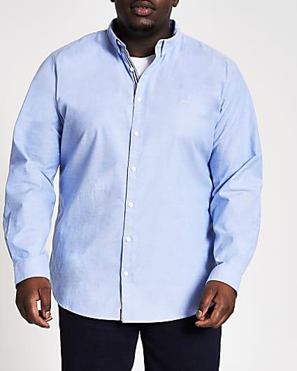 Big & Tall blue long sleeve Oxford shirt