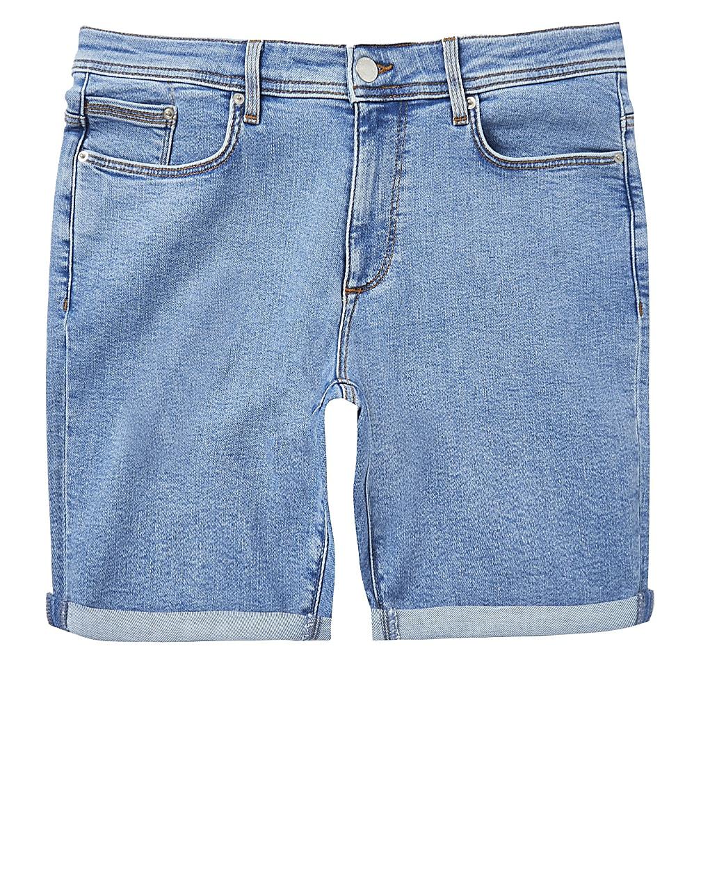 Big & Tall blue skinny fit shorts
