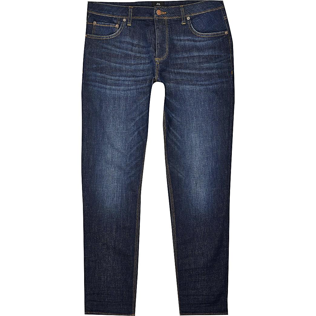Big & Tall dark blue Dylan slim fit jeans